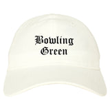 Bowling Green Kentucky KY Old English Mens Dad Hat Baseball Cap White