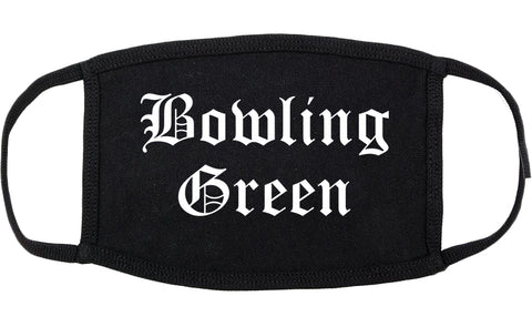 Bowling Green Missouri MO Old English Cotton Face Mask Black