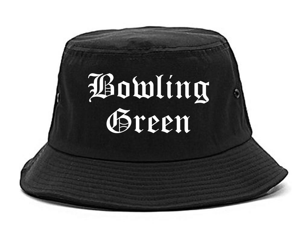 Bowling Green Missouri MO Old English Mens Bucket Hat Black