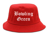 Bowling Green Missouri MO Old English Mens Bucket Hat Red
