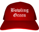 Bowling Green Missouri MO Old English Mens Trucker Hat Cap Red