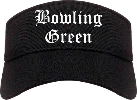 Bowling Green Missouri MO Old English Mens Visor Cap Hat Black