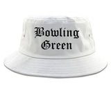 Bowling Green Missouri MO Old English Mens Bucket Hat White