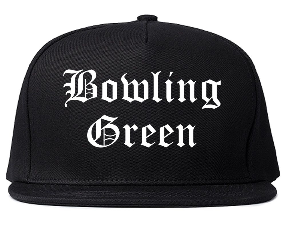 Bowling Green Ohio OH Old English Mens Snapback Hat Black