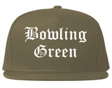 Bowling Green Ohio OH Old English Mens Snapback Hat Grey