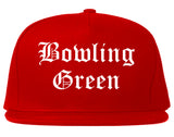 Bowling Green Ohio OH Old English Mens Snapback Hat Red