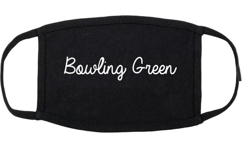 Bowling Green Ohio OH Script Cotton Face Mask Black