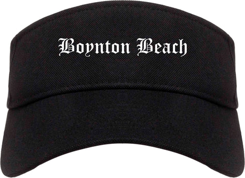 Boynton Beach Florida FL Old English Mens Visor Cap Hat Black