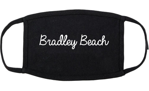 Bradley Beach New Jersey NJ Script Cotton Face Mask Black