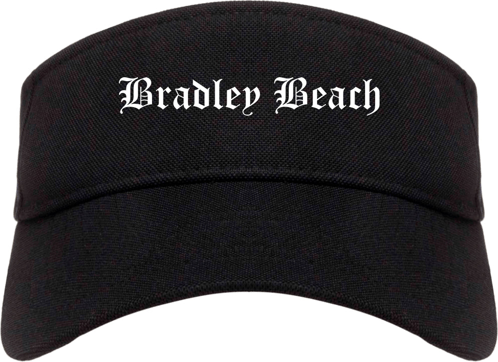 Bradley Beach New Jersey NJ Old English Mens Visor Cap Hat Black