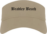 Bradley Beach New Jersey NJ Old English Mens Visor Cap Hat Khaki