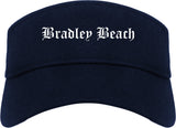 Bradley Beach New Jersey NJ Old English Mens Visor Cap Hat Navy Blue