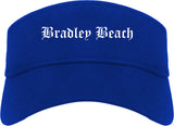 Bradley Beach New Jersey NJ Old English Mens Visor Cap Hat Royal Blue