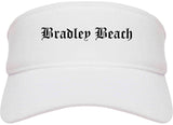 Bradley Beach New Jersey NJ Old English Mens Visor Cap Hat White