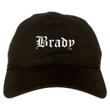Brady Texas TX Old English Mens Dad Hat Baseball Cap Black
