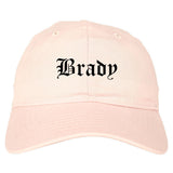 Brady Texas TX Old English Mens Dad Hat Baseball Cap Pink