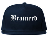 Brainerd Minnesota MN Old English Mens Snapback Hat Navy Blue