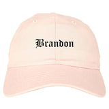 Brandon South Dakota SD Old English Mens Dad Hat Baseball Cap Pink
