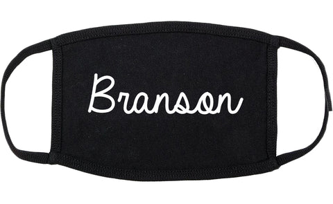 Branson Missouri MO Script Cotton Face Mask Black