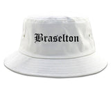 Braselton Georgia GA Old English Mens Bucket Hat White