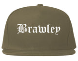 Brawley California CA Old English Mens Snapback Hat Grey