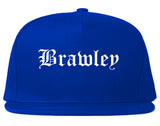 Brawley California CA Old English Mens Snapback Hat Royal Blue