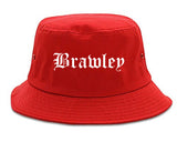 Brawley California CA Old English Mens Bucket Hat Red