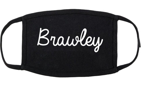 Brawley California CA Script Cotton Face Mask Black