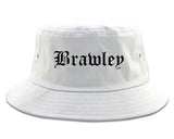 Brawley California CA Old English Mens Bucket Hat White