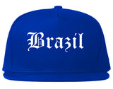 Brazil Indiana IN Old English Mens Snapback Hat Royal Blue