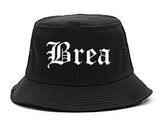 Brea California CA Old English Mens Bucket Hat Black