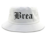 Brea California CA Old English Mens Bucket Hat White
