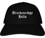 Breckenridge Hills Missouri MO Old English Mens Trucker Hat Cap Black