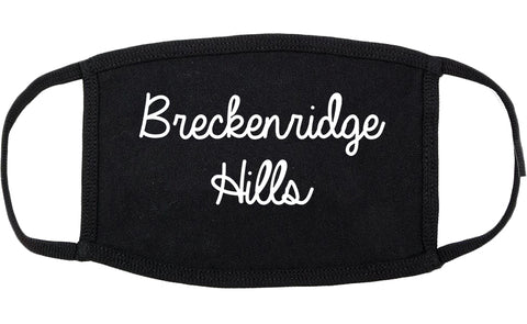 Breckenridge Hills Missouri MO Script Cotton Face Mask Black