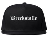 Brecksville Ohio OH Old English Mens Snapback Hat Black