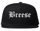 Breese Illinois IL Old English Mens Snapback Hat Black