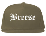 Breese Illinois IL Old English Mens Snapback Hat Grey