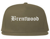 Brentwood California CA Old English Mens Snapback Hat Grey