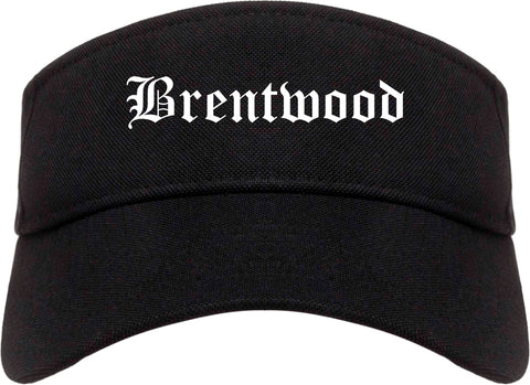 Brentwood California CA Old English Mens Visor Cap Hat Black