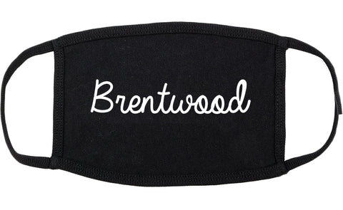 Brentwood Missouri MO Script Cotton Face Mask Black