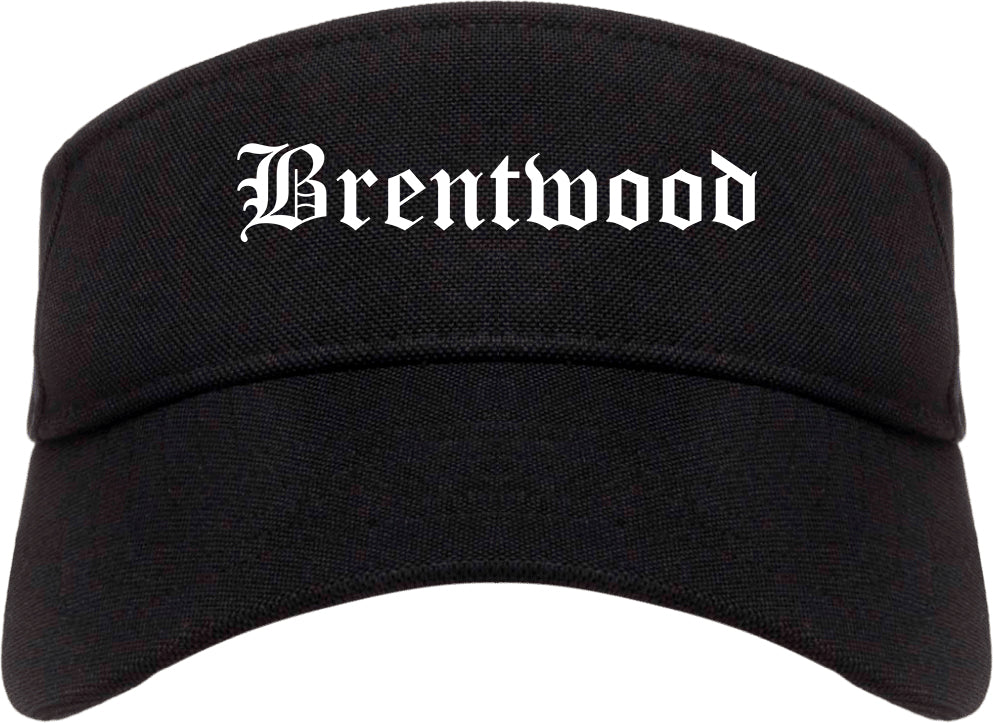 Brentwood Missouri MO Old English Mens Visor Cap Hat Black