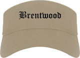 Brentwood Missouri MO Old English Mens Visor Cap Hat Khaki