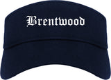 Brentwood Missouri MO Old English Mens Visor Cap Hat Navy Blue