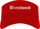 Brentwood Missouri MO Old English Mens Visor Cap Hat Red