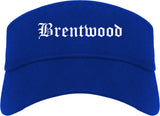 Brentwood Missouri MO Old English Mens Visor Cap Hat Royal Blue