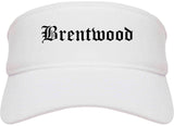 Brentwood Missouri MO Old English Mens Visor Cap Hat White