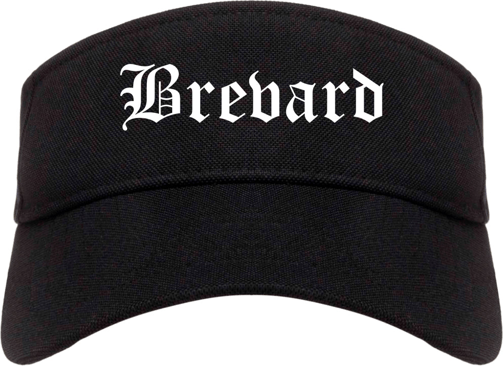 Brevard North Carolina NC Old English Mens Visor Cap Hat Black