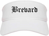 Brevard North Carolina NC Old English Mens Visor Cap Hat White