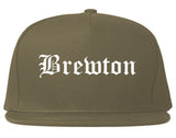 Brewton Alabama AL Old English Mens Snapback Hat Grey