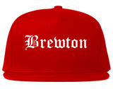 Brewton Alabama AL Old English Mens Snapback Hat Red